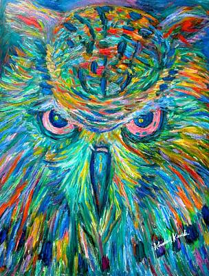 Painting - Owl Stare by Kendall Kessler