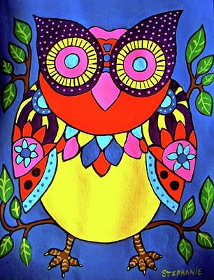 Painting - Owl by Stephanie Moore