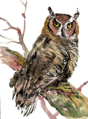 Painting - Owl by Suren Nersisyan