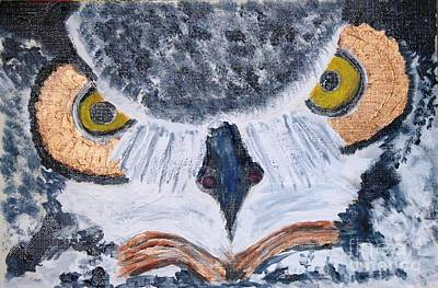 Painting - owl by Victoria Hasenauer