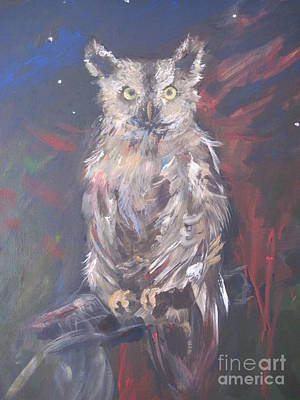 Painting - Owl Watchers by Paula Marsh
