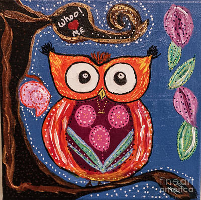 Photograph - Owl  Whoo Loves Me   by Peggy Franz
