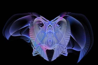 Contemporary Jewellery Digital Art - Owleus Barneous Abstractacus by Andy Young