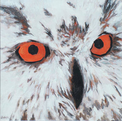 Painting - Owlish Eyes by Ekaterina Mortensen