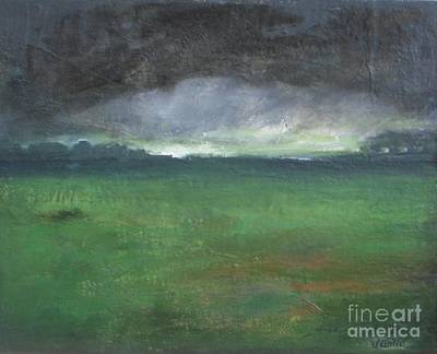 Storm Clouds Painting - Owllight by Vesna Antic