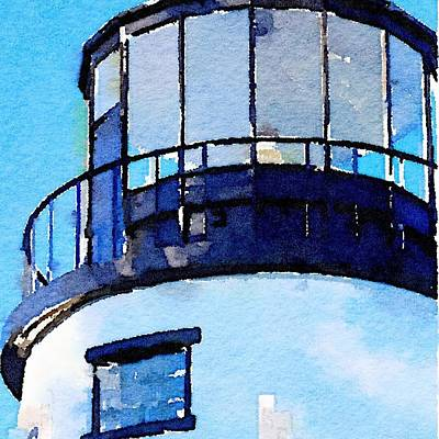Painting - Owls Head Light House by Modern Art