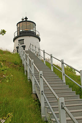 Photograph - Owls Head Light by Paul Mangold