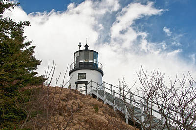 Photograph - Owl's Head Lighthouse 4761 by Guy Whiteley