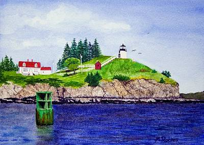 Owls Head Lighthouse Art Print