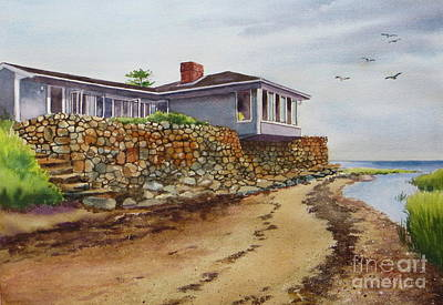 Painting - Riverhouse by Karol Wyckoff