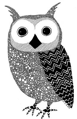 Full Body Drawing - Owly by Laura McLendon