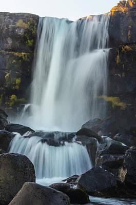 Photograph - Oxarafoss 1 - Oxara River Waterfall by Deborah Smolinske