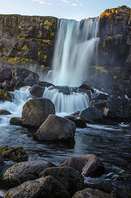 Photograph - Oxarafoss 2 - Oxara River Waterfall by Deborah Smolinske