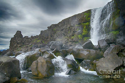 Photograph - Oxarafoss Iceland 4 by Rudi Prott