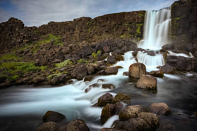 Photograph - Oxararfoss by Brad Grove