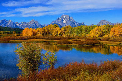 Photograph - Oxbow Bend Autumn Impressions by Greg Norrell