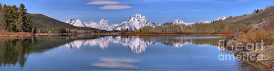 Photograph - Oxbow Bend Extended Panorama by Adam Jewell