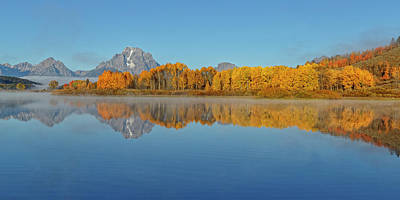 Photograph - Oxbow Bend First Light  by Wes and Dotty Weber