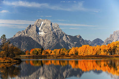Photograph - Oxbow Bend Gtnp Autumn Morning by Vishwanath Bhat