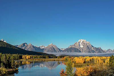 Oxbow Bend Art Print by Mary Hone