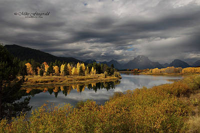 Photograph - Oxbow Bend by Mike Fitzgerald