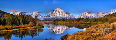 Photograph - Oxbow Bend Morning Panorama by Adam Jewell