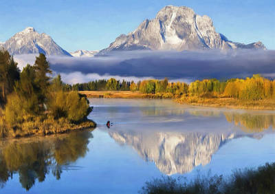 Teton Mixed Media - Oxbow Bend by Renee Skiba