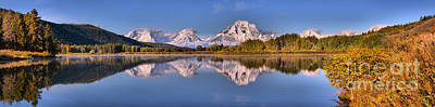 Photograph - Oxbow Bend Snake River Reflctions by Adam Jewell