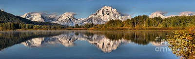 Photograph - Oxbow Bend Snow Capped Reflections by Adam Jewell