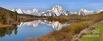 Photograph - Oxbow Bend Spring Colors Panorama by Adam Jewell