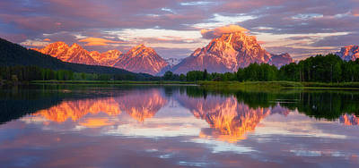 Teton Mountains Photograph - Oxbow Magic by Darren  White