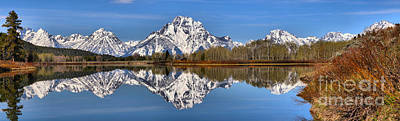 Photograph - Oxbow Snake River Reflections by Adam Jewell