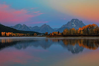 Wyoming Photograph - Oxbows Reflections by Edgars Erglis
