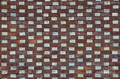Weather Beaten Photograph - Oxford Brick Wall by Tim Gainey