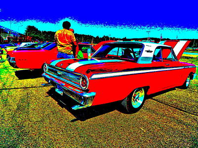 Photograph - Oxford Car Show 175 by George Ramos