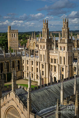 Photograph - Oxford Spires by Brian Jannsen
