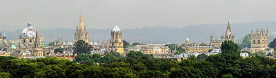 Photograph - Oxford Spires Panoramic by Ken Brannen