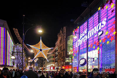 Photograph - Oxford Street London At Christmas by Terri Waters
