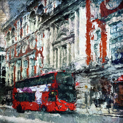 Digital Art - Oxford Street by Nicky Jameson