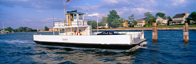 Water Vessels Photograph - Oxford To Bellevue Ferry, Continuous by Panoramic Images
