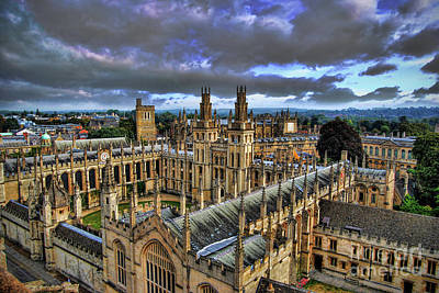 Oxford University - All Souls College Art Print