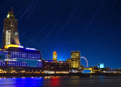 Photograph - Oxo Tower Star Trails by David French