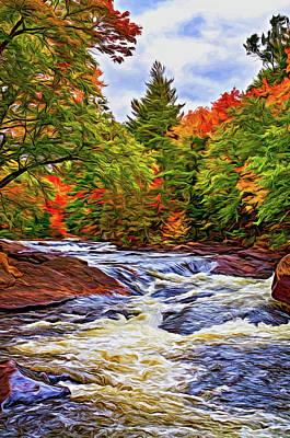 Photograph - Oxtongue River 7 - Paint by Steve Harrington