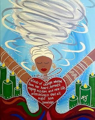 Painting - Oya by Angela Yarber
