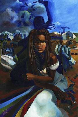 Orisha Painting - Oya At The Marketplace by Karmella Haynes