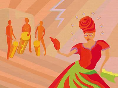 Orishas Wall Art - Digital Art - Oya Dancer by Aaron Gross