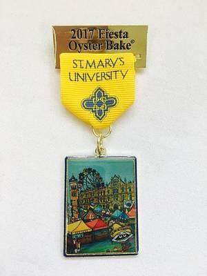 Painting - Oyster Bake Medal by Patti Schermerhorn