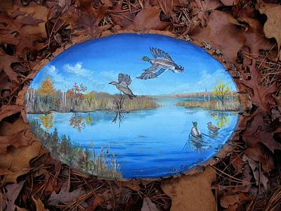 . Pinelands Painting - Oyster Creek Flock by Kevin F Heuman