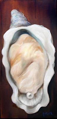 Half Shell Painting - Oyster On The Half Shell by Mary Sparrow