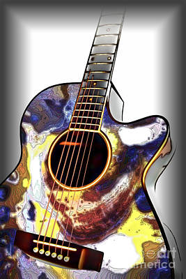 Photograph - Oyster Shell Guitar by Walt Foegelle